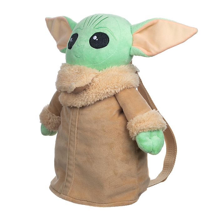 Alternate image 1 for Star Wars™ The Mandalorian™ The Child (AKA Baby Yoda) Plush Backpack in Green/Brown