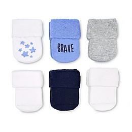 goldbug™ 6-Pack Folded Cuff Socks in Blue Terry