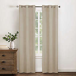 Wamsutta® Collective Asher Chambray 84-Inch Blackout Window Curtain Panel in Natural