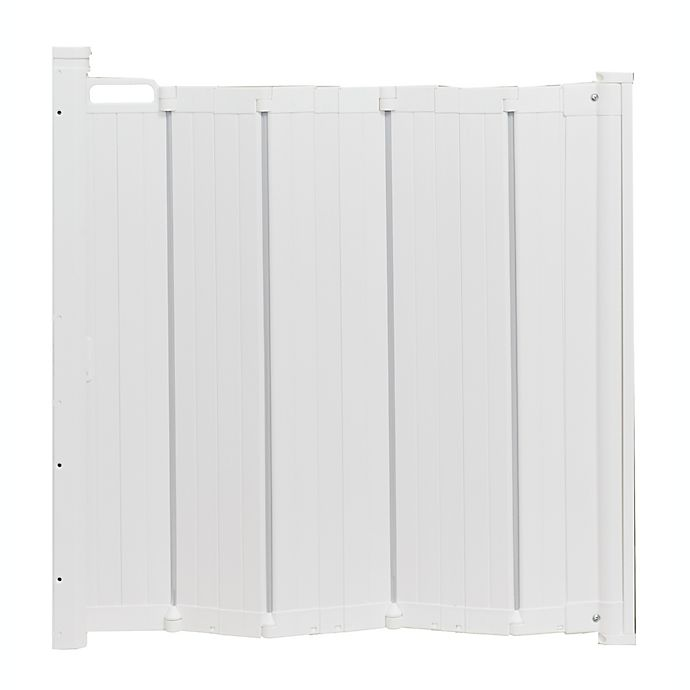 Alternate image 1 for BabyDan® Guard Me™ Hardware-Mount Auto Retractable Safety Gate in White
