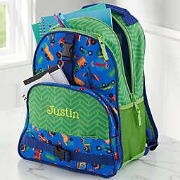 Stephen Joseph® Transportation Embroidered Backpack in Blue