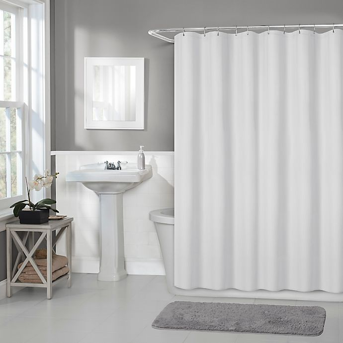 Alternate image 1 for Titan 70-Inch x 72-Inch Waterproof Fabric Shower Curtain Liner