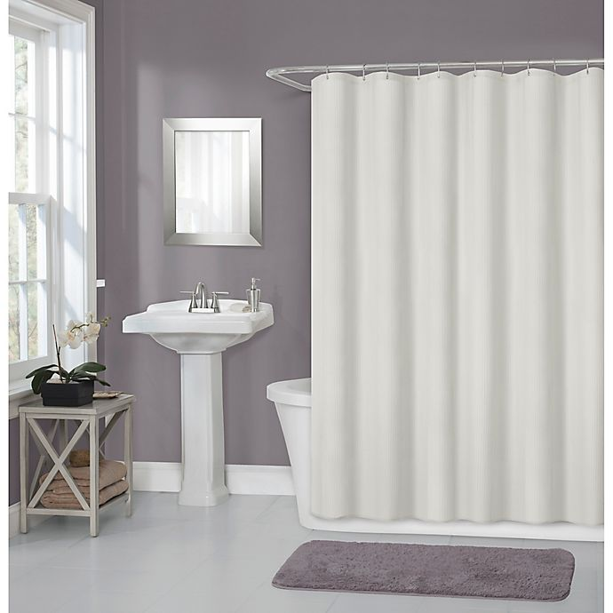 Alternate image 1 for Titan 70-Inch x 72-Inch Waterproof Fabric Shower Curtain Liner in Ivory