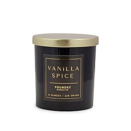 Foundry Candle Co. Petals Vanilla Spice 15 oz. Glass Jar Candle in Black