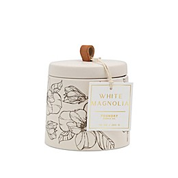 Foundry Candle Co. Petals Magnolia 10 oz. Candle Jar in White