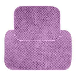 Cabernet 2-Piece Bath Rug Set in Purple