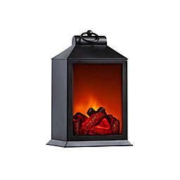 GRAYSON HOME LED Tabletop Fireplace in Black