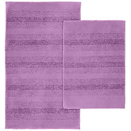 Essense 2-Piece Bath Rug Set in Purple