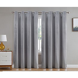 VCNY Home Alaina Grommet Room Darkening Window Curtain Panel in Silver