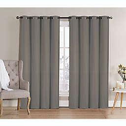 VCNY Candice 2-Pack 84-Inch Grommet Room Darkening Window Curtain Panels