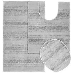 Garland Essence Tufted Bath Rug Set in Platinum (Set of 3)