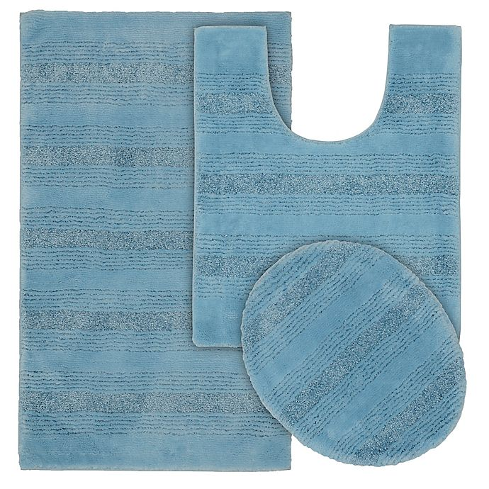 Alternate image 1 for Garland 3-Piece Essence Tufted Bath Rug Set in Blue