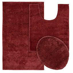 Garland Essence Tufted Bath Rug Set in Red (Set of 3)