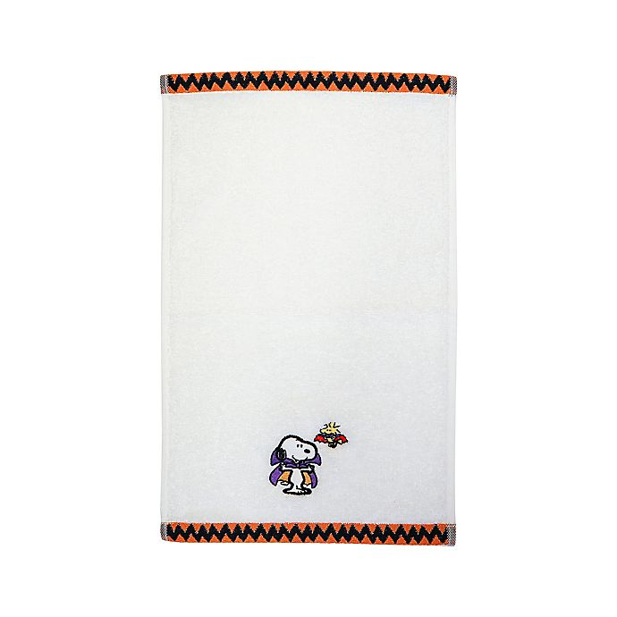 Alternate image 1 for Peanuts™ Halloween Fingertip Towel in White