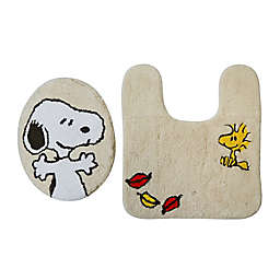 Peanuts™ Harvest 2-Piece Tufted Toilet Seat Cover & Rug Set