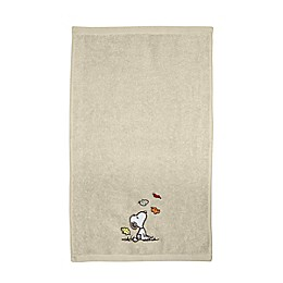 Peanuts™ Harvest Fingertip Towel in Tan