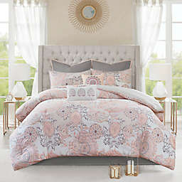 Madison Park Isla 8-Piece Reversible Queen Comforter Set in Blush