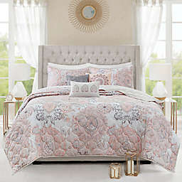Madison Park Isla 6-Piece Reversible Full/Queen Coverlet Set in Blush