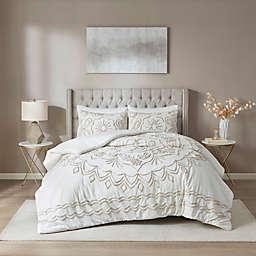 Madison Park® Violette Tufted 3-Piece Duvet Cover Set