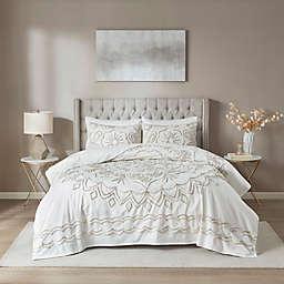 Madison Park Violette Tufted Cotton Chenille Coverlet Set