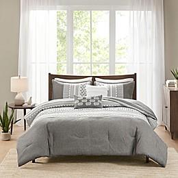 Madison Park Adair 5-Piece Comforter Set in Grey