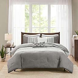 Madison Park Adair 5-Piece Full/Queen Comforter Set in Grey
