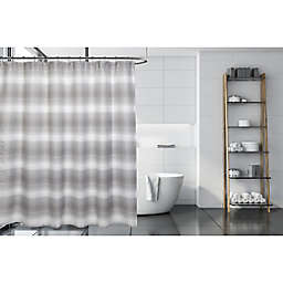 Moda at Home 71-Inch x 71-Inch Toluca Shower Curtain in Grey/White