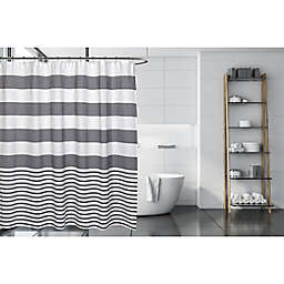 Moda at Home 71-Inch x 71-Inch Catalina Shower Curtain in Grey/White