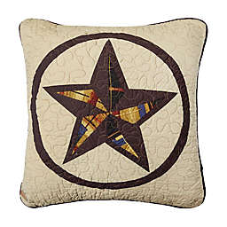 Donna Sharp Rustic Star Square Throw Pillow