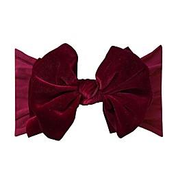 Baby Bling One Size Velvet FAB-BOW-LOUS Headband in Ruby