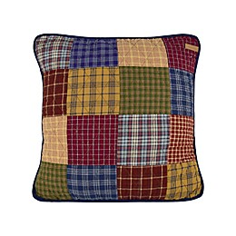 Donna Sharp Lakehouse Patchwork Square Throw Pillow
