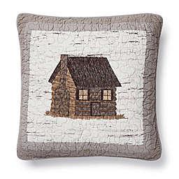 Donna Sharp® Birch Forest Cabin Square Throw Pillow in Beige