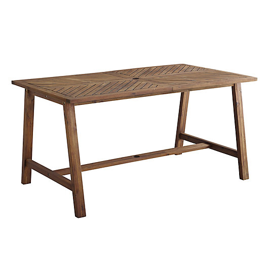 Alternate image 1 for Forest Gate Rectangular Acacia Wood Patio Dining Table