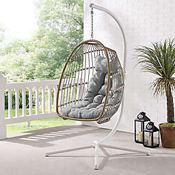 Forest Gate Metal Swing Egg Chair with Stand