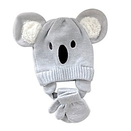 NYGB™ 2-Piece Koala Critter Hat and Mitten Set in Grey