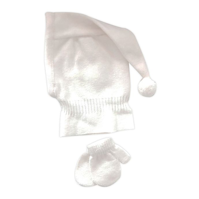 Alternate image 1 for NYGB™ Newborn 2-Piece Balaclava Hat and Mitten Set in Ivory