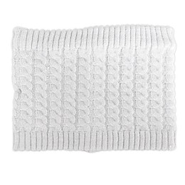 NYGB™ Fisherman Cable Knit Scarf in Cloud Grey