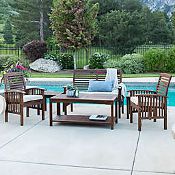 Forest Gate 6-Piece Acacia Outdoor Chat Set