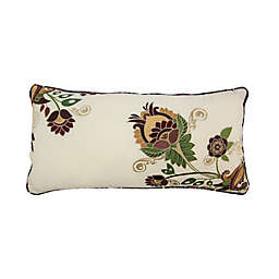 Donna Sharp Spice Postage Stamp UCC Oblong Throw Pillow in Beige