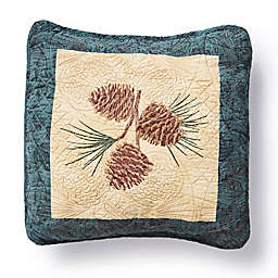 Donna Sharp® Cabin Raising Pinecone Square Throw Pillow in Beige