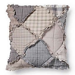 Donna Sharp Smoky Mountain Ragged Square Throw Pillow in Beige