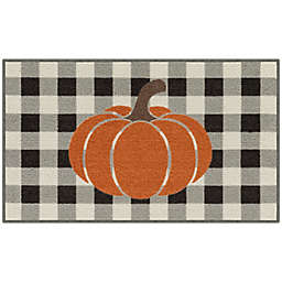 Buffalo Check Pumpkin 1'8 x 2'10 Accent Rug in Black/White