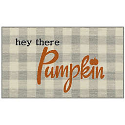 """Hey There Pumpkin"" 1'8 x 2'10 Accent Rug in Orange"