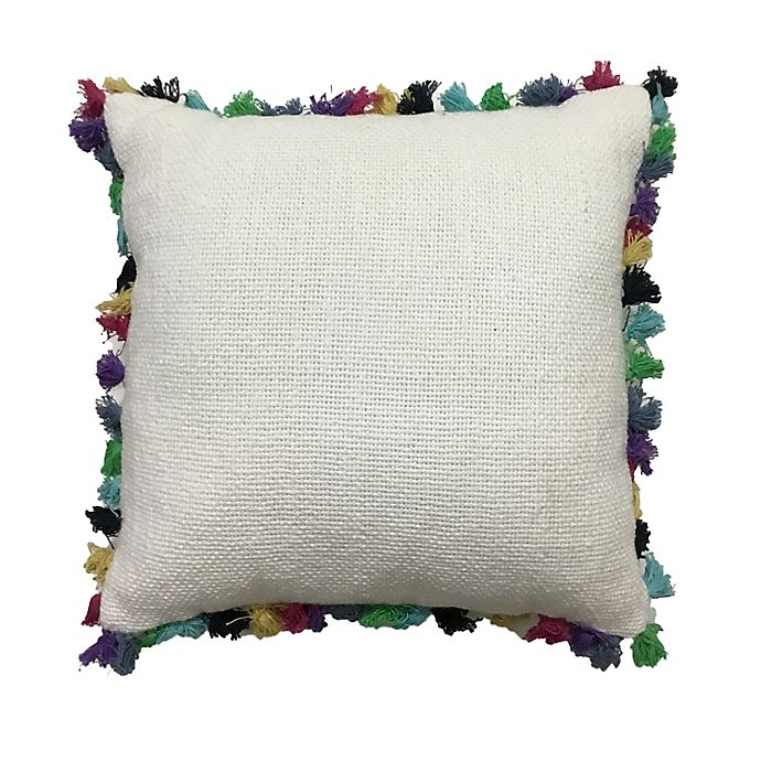 Alternate image 1 for Global Caravan Tasseled Square Throw Pillow