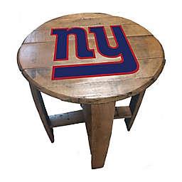 NFL New York Giants Oak Barrel Table