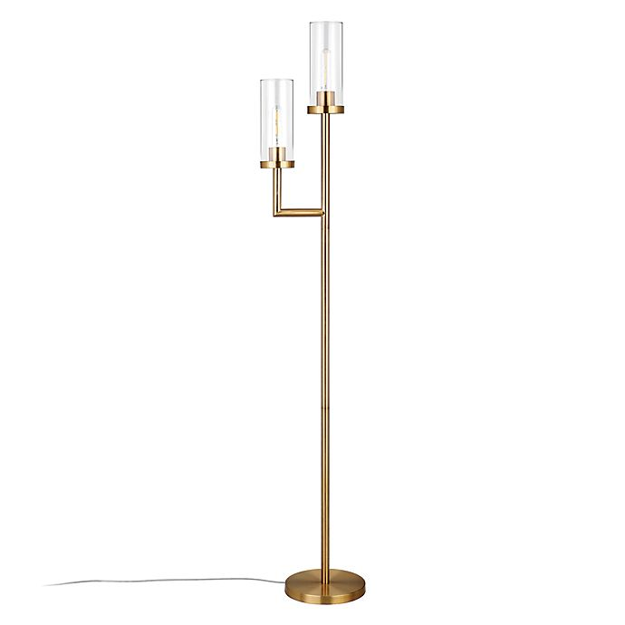 Alternate image 1 for Hudson&Canal Basso Floor Lamp in Gold