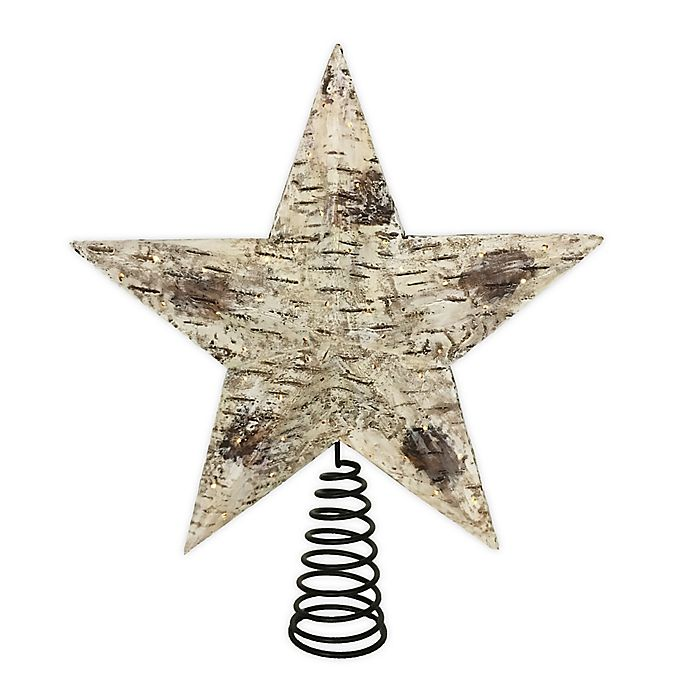 Alternate image 1 for Bee & Willow™ Home 10-Inch Star LED Tree Topper in Natural