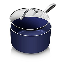 Granitestone Diamond Nonstick 2.5 qt. Saucepan in Blue