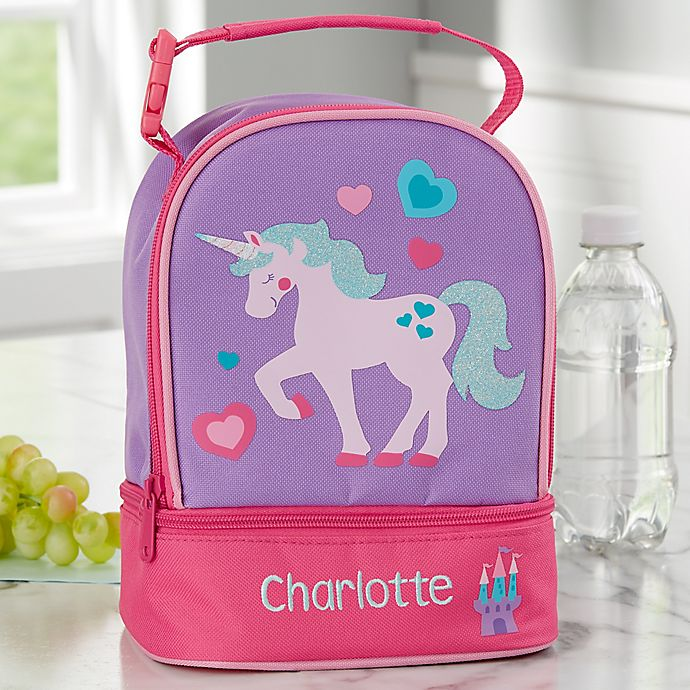 Alternate image 1 for Unicorn Embroidered Lunch Bag by Stephen Joseph