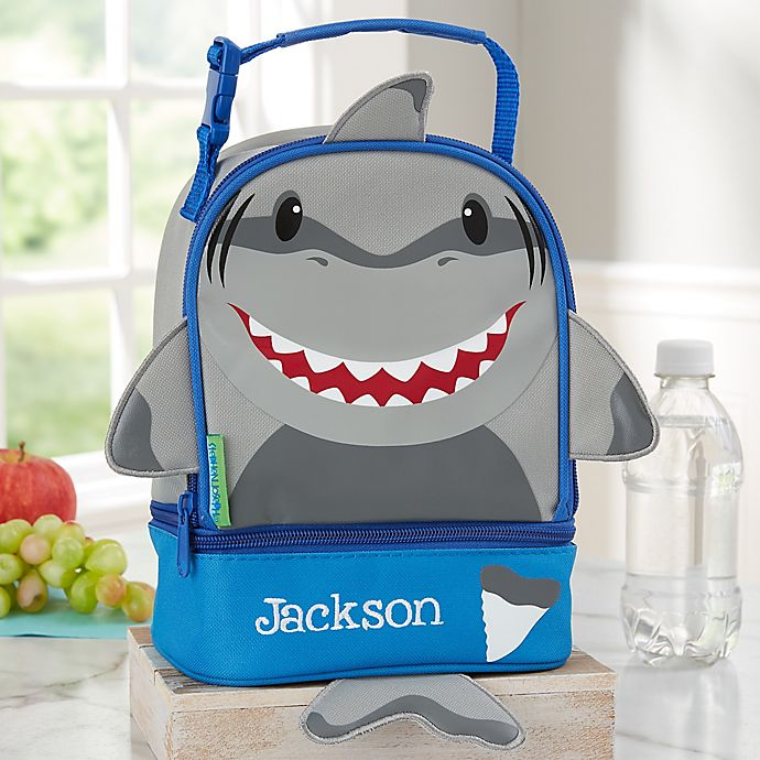 Alternate image 1 for Shark Personalized Lunch Bag by Stephen Joseph